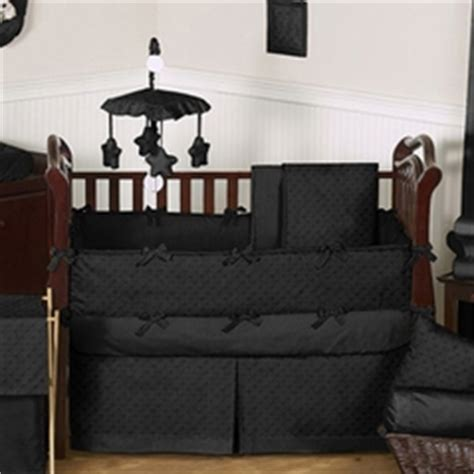 Baby Bed Black Solid Color Crib Bedding In Pink Blue More