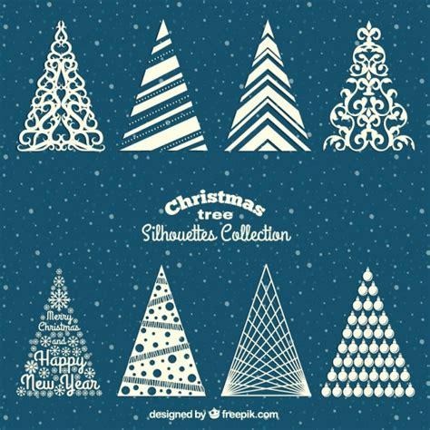 arboles de navidad blancos siluetas de 225 rboles de navidad blancos descargar