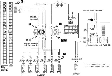 1993 infinity j30 need a wiring diagram of the fuel injector circuit