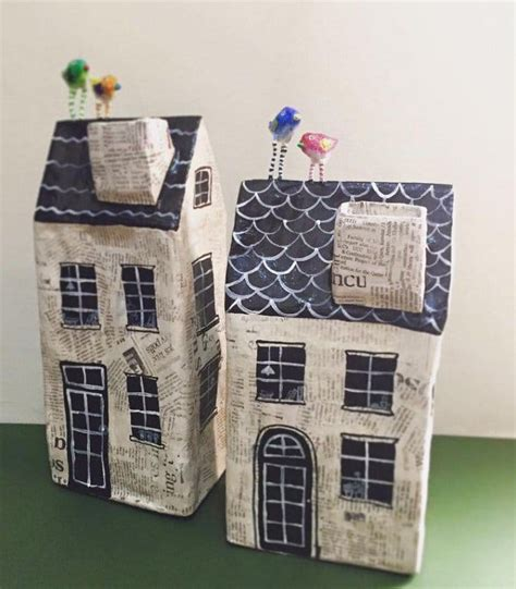 How To Make A Paper Mache House - these paper mache houses are so sweet they ll make