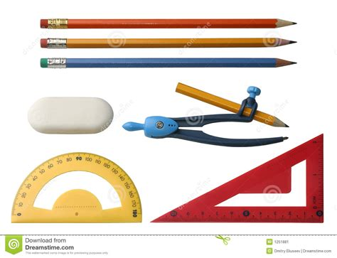 6 Drawing Tools by Different Drawing Tools Stock Image Image 1251881