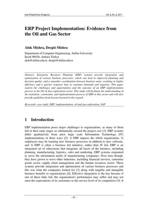 Mba Project Report On Erp Implementation Pdf by Pdf Erp Project Implementation Evidence From The