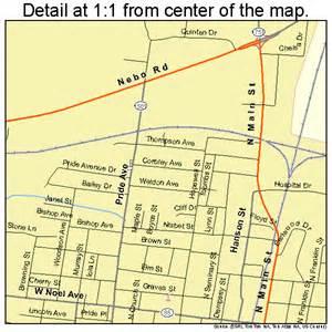 madisonville kentucky map 2149368