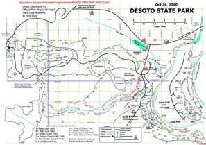 map of desoto w4uoa desoto state park