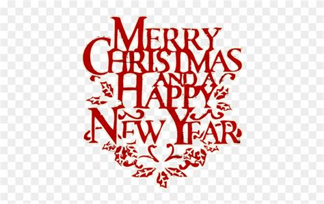 merry clipart words merry and happy new year clip free merry