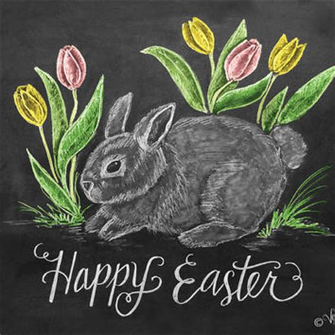 Bunny Chalkboard by Happy Easter Card Easter Bunny Card From Lilyandval On