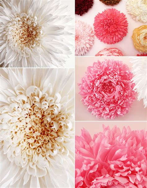 How To Make A Big Paper - paper flowers by tiffanie turner colossal