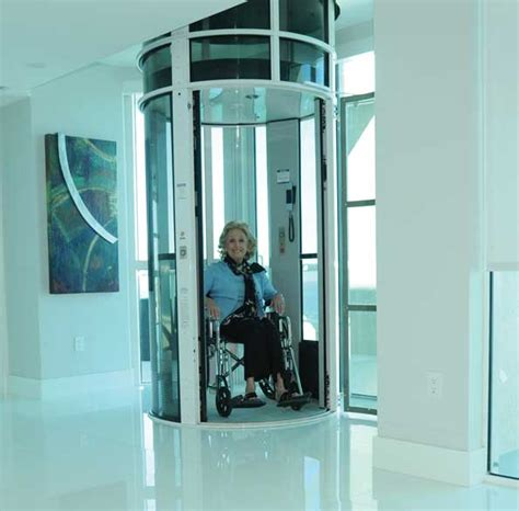 elevator in a house pneumatic elevator transports the disabled hydraulics