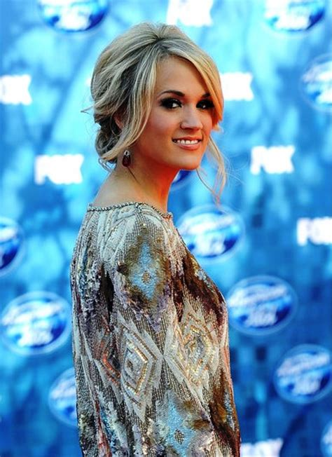 Carrie Underwood Updo Hairstyles by Pictures Of Carrie Underwood Updo