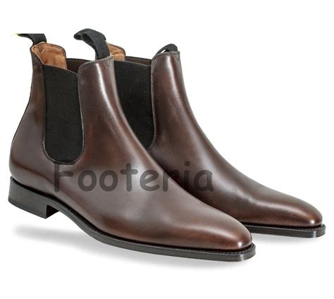 Handmade Dress Boots - handmade brown chelsea boots leather boot for