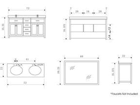 Bathroom sink cabinet dimensions details about bathroom vanity jpg