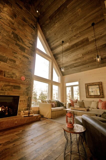 cozy rustic family cottage cabin rustic family room