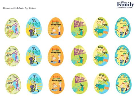 printable egg stickers 227 best images about phineas ferb printables on