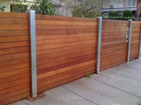 composite mixed material fence ideas for eichlers other mcm homes fence designs by jnd timber steel vertical rather than horizontal garden