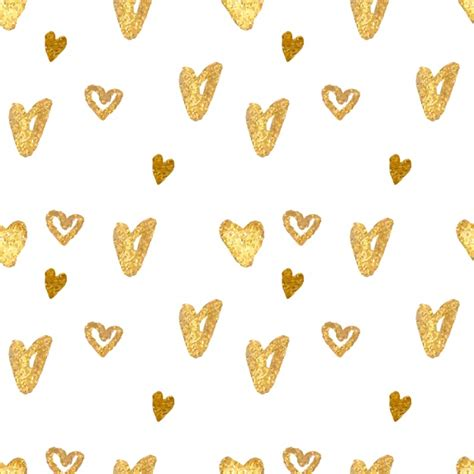 gold heart pattern golden hearts pattern design vector free download