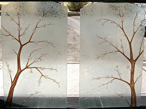 Decorative Glass Windows by Decorative Glass Doors Windows Table Cherry Blossom