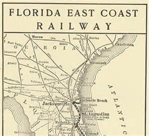 florida east coast railway map florida memory railroads change florida