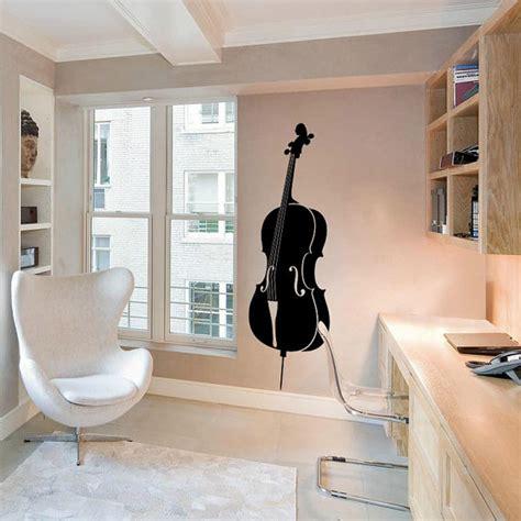 Custom Vinyl Stickers For Walls violin cello wall decal cute vinyl sticker home arts