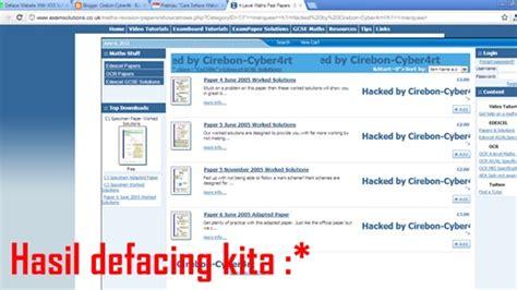 tutorial deface website pdf tutorial deface cara deface website menggunakan teknik