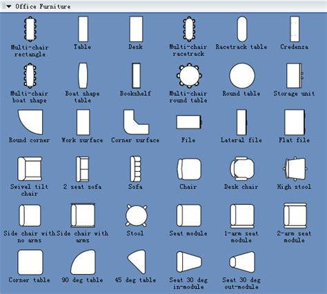 office layout free download office furniture symbols for office layout