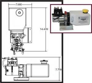lippert 014 141111 hydraulic power unit with 2qt reservoir kit model 643150