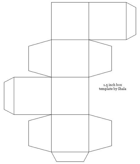 small box template coloring pages for children and crafters