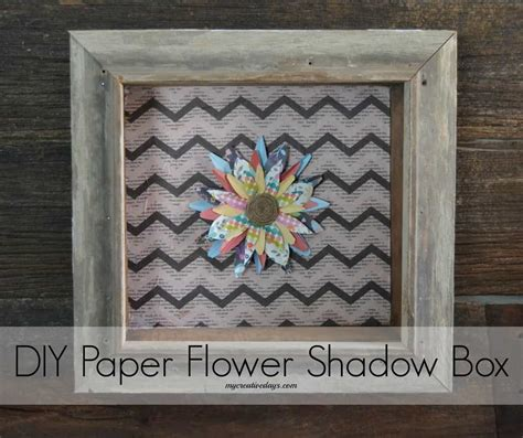 paper flower shadow box tutorial diy paper flower shadow box mycreativedays