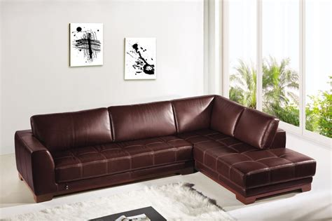 Elegant White Living Room Interior Design With Brown L White Leather L Shaped Sofa
