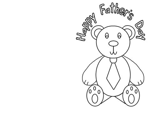 s day card template to colour card fathers day card template