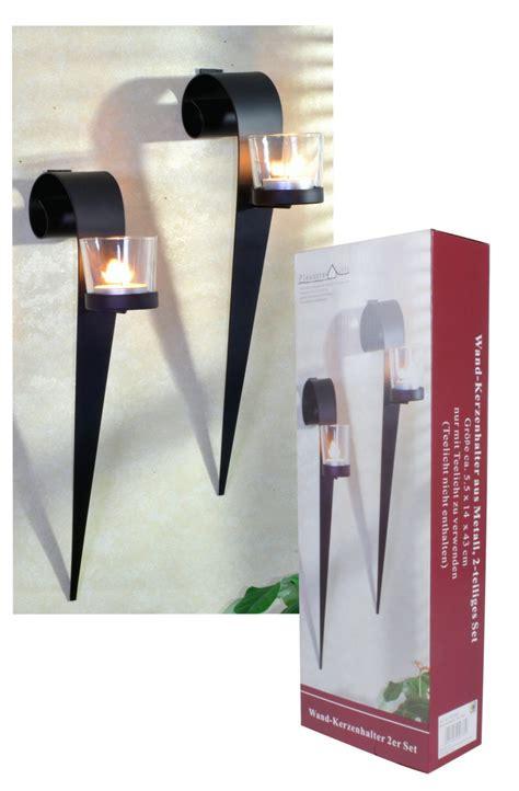 kerzenhalter wand schwarz wand kerzenhalter 2er set metall schwarz teelicht