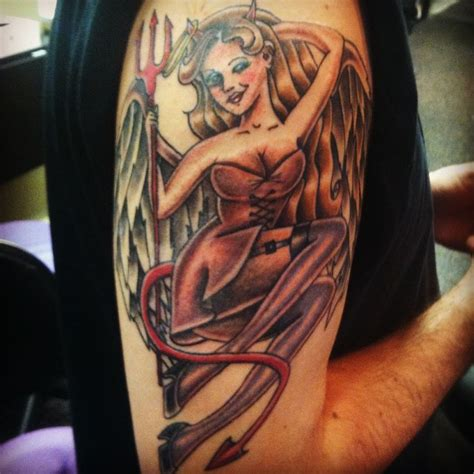 how to become a tattoo artist a devilish pinup from our graduate jocelyn contact us for