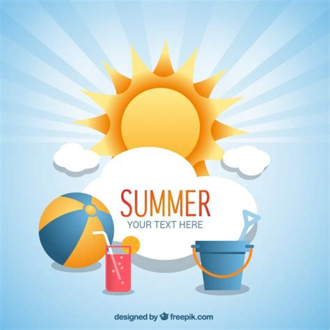 imagenes vectores sin derechos fondo de verano con iconos de playa descargar vectores