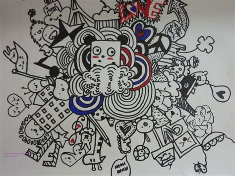 how to create doodle doodle doodling graffiti 落書きアート doodles