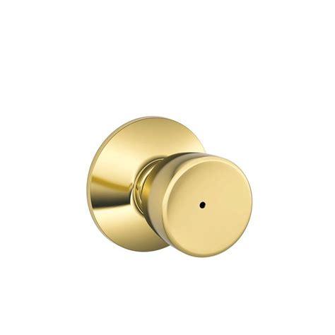Schlage Knobs by Schlage Bell Bright Brass Bed And Bath Knob F40 Bel 605