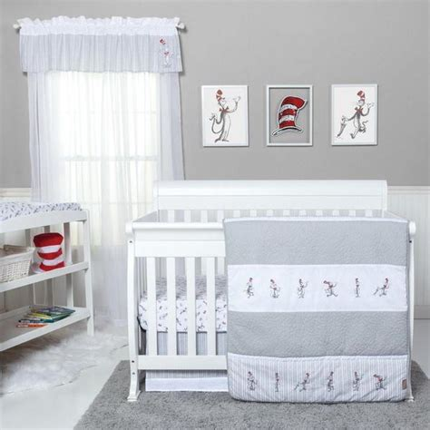 Cat In The Hat Crib Bedding Set Trend Lab Dr Seuss Cat In The Hat Comes Back 4 Crib Bedding Set