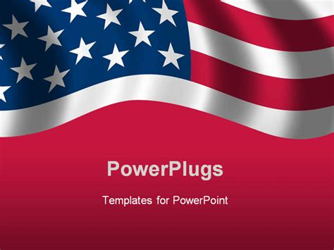american powerpoint templates flag of the usa waving in the wind powerpoint template