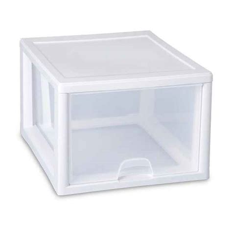 Plastic Stacking Drawers by Sterilite 27 Quart Stacking Drawer Stackable Plastic Storage Drawers
