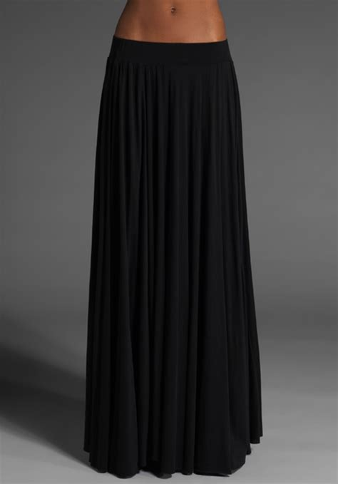 pally maxi skirt in black lyst