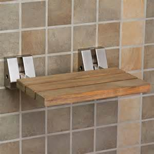 shower seats and benches wall mount teak folding shower seat brushed nickel ebay