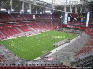 arizona cardinals stadium map of stadium section 425 seat views