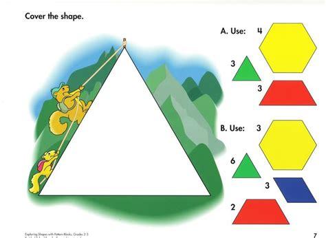 pattern blocks en francais moza 239 ek voor kleuters apprendre le fran 231 ais pinterest