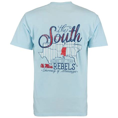 ole miss comfort colors ole miss rebels the south comfort colors t shirt light