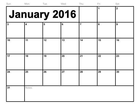 printable january 2016 day planner january 2016 printable calendar template calendar