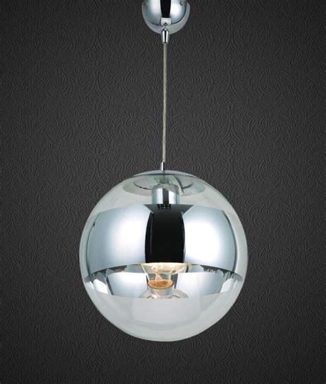 Glass Ball Pendant With Chrome Band Cheaper Than Tom Mirror Pendant Light