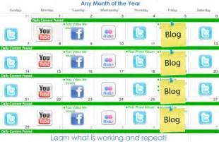 social media marketing calendar for business advantage