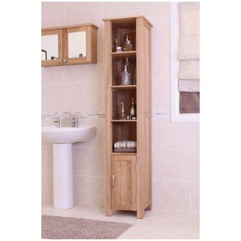 Oak Bathroom Storage Cabinets Mobel Solid Oak Furniture Bathroom Storage Cabinet Ebay