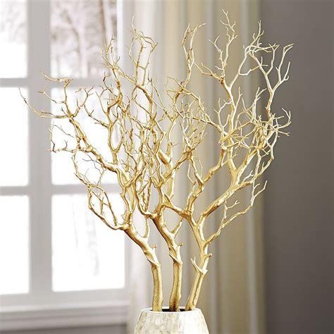 gold branch centerpieces metallic gold branch pier 1 imports