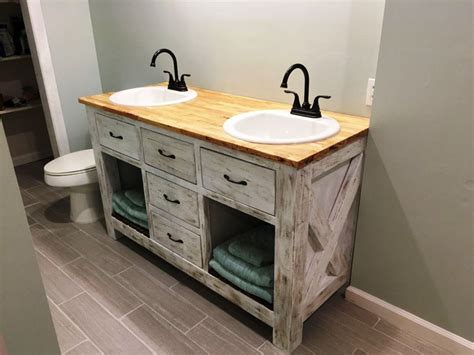 installing farmhouse bathroom vanity