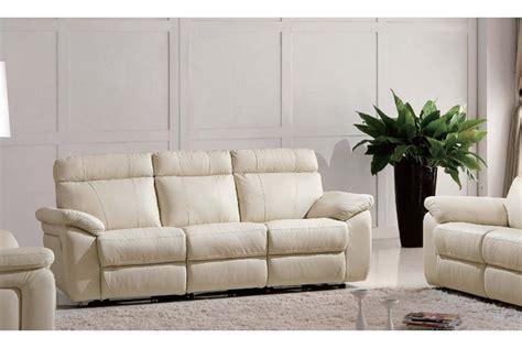 cream leather sofa set tisha italian leather recliner sofa set cream