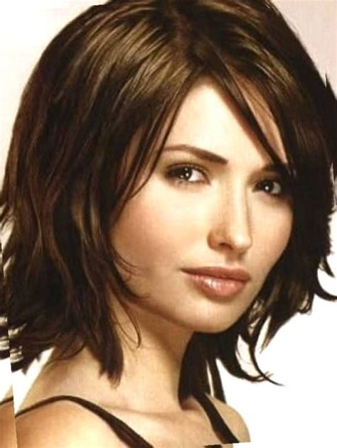 hairstyles for fat faces and thick hair medium length hairstyles for thick hair with side bangs